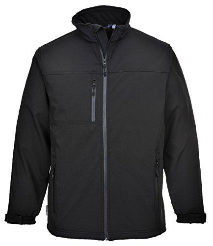 Portwest TK50BKRL grote zachte Shell jas - zwart