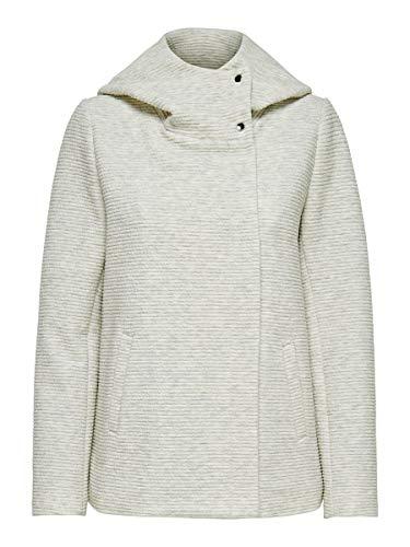 ONLY Damen onlMADDIE LINK Hooded Spring Coat CC OTW Jacke, Elfenbein (Oatmeal Detail:Melange), 38 (Herstellergröße:M)