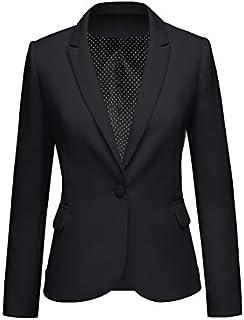 LookbookStore Womens Notched Lapel Pocket Button Work...
