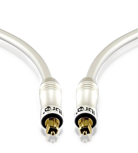 IBRA® PEARL - 2m metros Cable óptico Audio Digital
