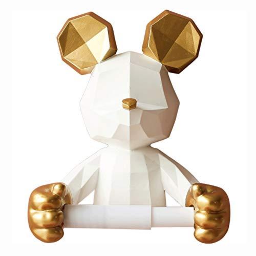 Tissue Holder Box Carino cartoni animati scatola di tessuto resina copertura del tessuto di resina, supporto per tovaglioli di carta per la casa, per bagno o camera da letto o ufficio (bianco) Casa Gi