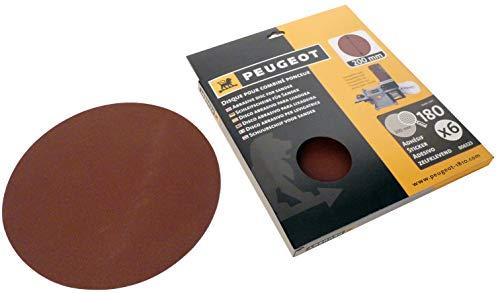 Peugeot 806323 Jeu de 6 Disques abrasifs autocollants pour combiné ponceur Energysand 200ASP ø 200 mm Grain à 180