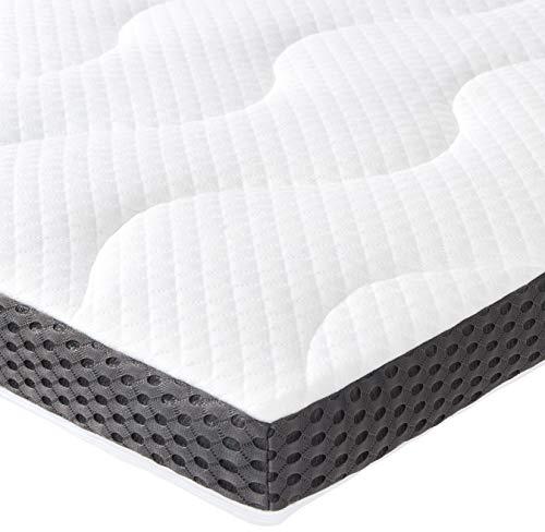 Amazon Basics - Cubrecolchón de espuma de gel de 7 cm - 135 x 190 cm