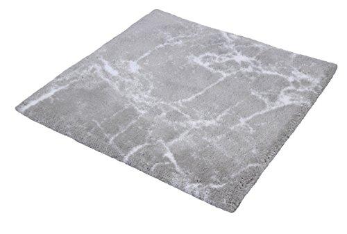 Kleine Wolke Como Badteppich, 100% Baumwolle, Silbergrau, 60 x 60 cm