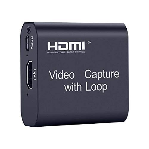 HDMI Videoaufnahmekarte, 4K 1080P 60fps USB2.0 Video Capture Card, HD Video & Audio Game Capture Card, für Videoaufzeichnung, Live-Übertragungen, Streaming, Spiele