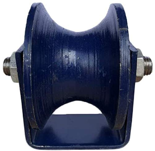 IWQTO Casters, Heavy Duty Caster Wheel with U-Groove,Cast Iron Sheaves Track Pulley,Double Bearing,for Round Tube,Wire Rope Rail,Sliding Door,Doors and Windows Pulley (Size : 100mm/4in)