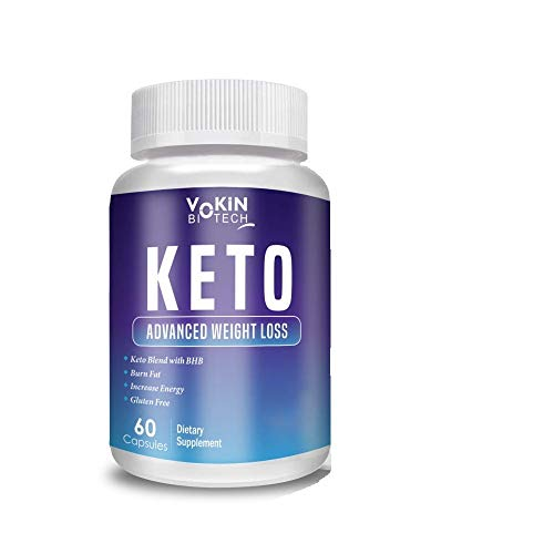 Vokin Biotech Keto Advanced Weight Loss Supplement with Green Tea + Garcinia Cambogia + Green Coffee 60 Caps (White)