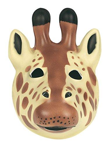 Careta de jirafa para niños o adultos, 21 x 19 cm (Wild