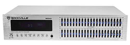 Rockville REQ42-S 2 x 21 Band Home Theater Equalizer w/ Audio Spectrum Analyzer