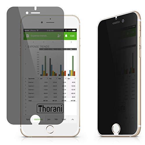 Thorani Filtro Privacy Filtro Schermo Pellicola di Protezione Vetro Temperato Compatibile con Apple iPhone 6, 6s, 7, 8 & SE 2. Gen (2020)