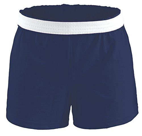 Soffe Girls' Authentic Cheer Short, Navy, X-Large (1-Pack)