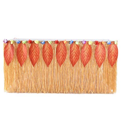 Fashionbeautybuy - Tovaglia da Tavolo con Nappe Tropicali hawaiane, per Halloween, tovaglia da Tavolo per Feste, Matrimoni, Decorazione per la casa Golden + Orange Leaves