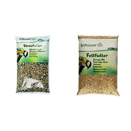 Erdtmanns Streufutter 6 x 2500 g, 1er Pack (1 x 15 kg) & Fettfutter, 1er Pack (1 x 5 kg)