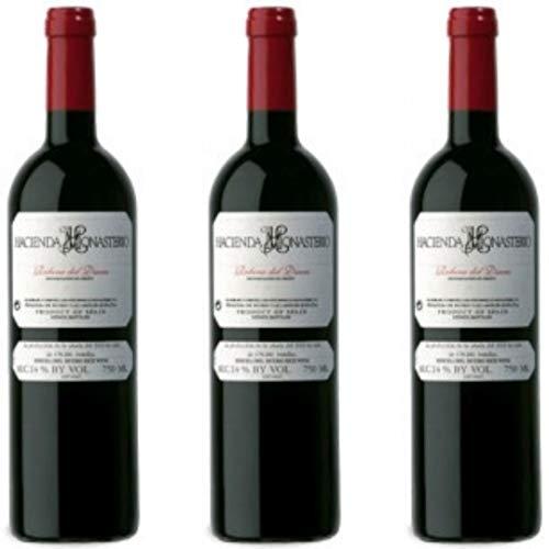 Hacienda Monasterio Vino tinto crianza - 3 botellas x 750ml - total: 2250 ml