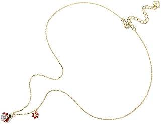 Baoleiju Anhänger aus 925er-Silber vergoldet mit schwarzem Diamant und Anhänger mit Schmuckkästchen für Damen schwarz Ketten