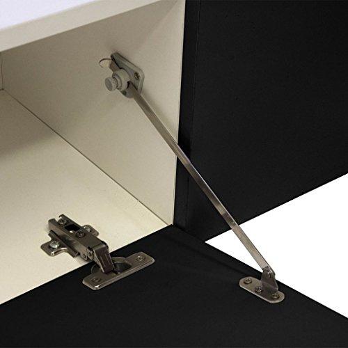 vidaXL Hochglanz Mediawand Wohnwand LED TV-Wand schwarz 169,2 cm - 8