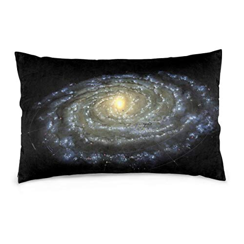XIEXING Pillow Case Milky-Way-Map Printed Pillow Cases Soft Chair Seat Bedding Pillowcase Coffee Shop Home Decor 14'' X20