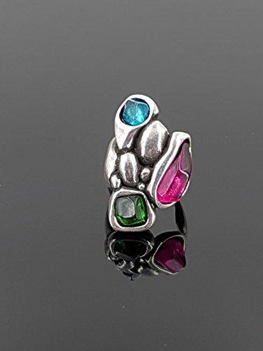 Anillo hecho a mano de zamak y resina, uno de 50 style ring, zamak ring, anillo estilo uno de 50