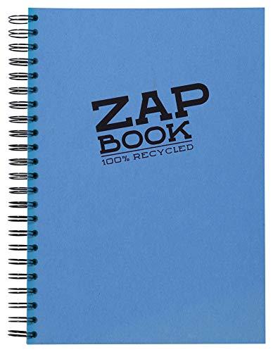 Clairefontaine 8354C Carnet Spiralé Zap Book - 160 Feuilles Papier Croquis 100% Recyclé - A4 21x29,7 cm 80g - Couleur de Couverture Aléatoire (4 coloris vifs possible)
