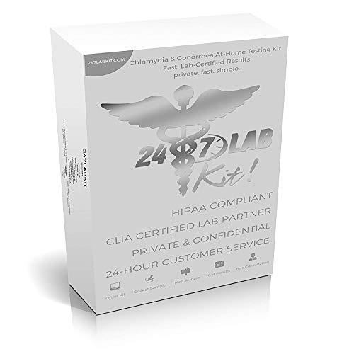 247Labkit at-Home STD Testing Kit for Men & Women | Trichomoniasis, Gonorrhea & Chlamydia Test