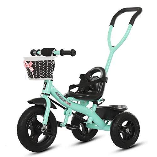 XHSLC Trikes- groene driewieler voor jongens, 3-wielige kinderfiets voor kinderen, leeftijden 1-5 jaar oud