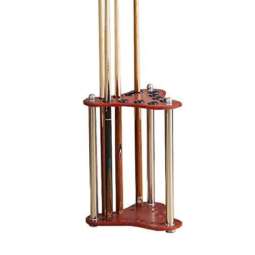 Lytqj Freestanding in Legno massello Portastecche da Biliardo,Verticale da Terra Titolare Cue,Accessori da Biliardo per Club per Famiglie/Legna / 32x53cm