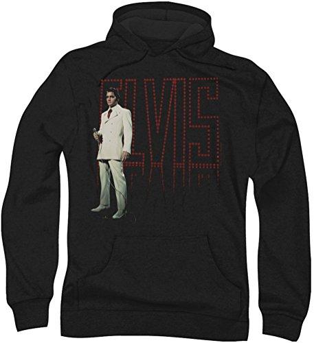 Elvis Presley - - Herren Weißer Anzug Hoodie, XXX-Large, Black
