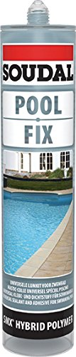 Soudal-Masilla piscina Pool Fix translucida 290 Ml