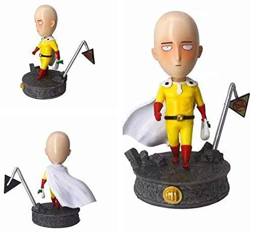 WIJJZY Figura Modelo Coleccionable Sr. Saitama Compras Sopras Bald Cape Man Hombre Q Versión GK Estatua Modelo Modelo de Cumpleaños Regalo Estatua Colección Decoración