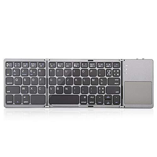 Toetsenbord, klein toetsenbord, drievoudig draadloos Bluetooth-toetsenbord met touchpad voor pc computer/Android-tablet