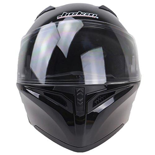 balikha Motocicleta Doble Visera Up Modular Casco de La - Negro XL