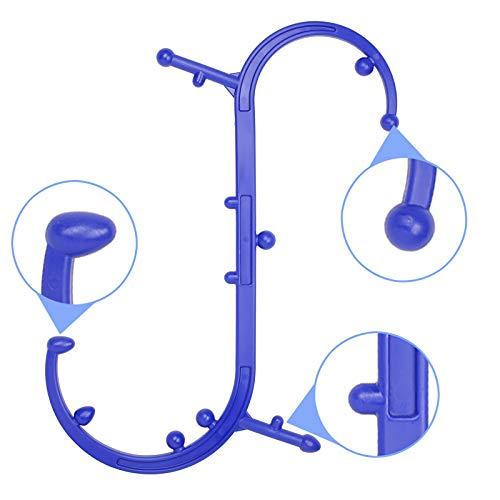 Triggerpunkt-Massagegerät, Massagegerät für den unteren Rücken, für die Schulter und den Nacken, S-Form (blau)