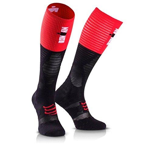 Compressport Medias de Compresion-Full Socks UltraLight Racing - Ironman 2017 Rojo/Negro - T1