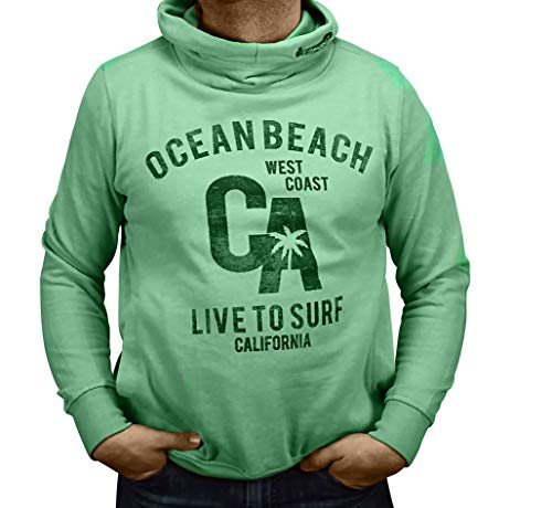 Kitaro Sweat-shirt à capuche pour homme - Vert - XXL