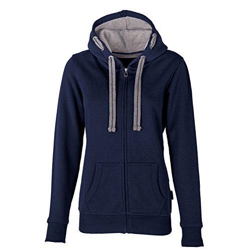 HRM Damen Jacket F Kapuzenpullover, Blau (Navy 4), X-Large