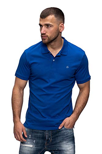 JACK & JONES Herren Poloshirt Polohemd Shirt Basic Polo Taxis (XXX-Large, Surf The Web)