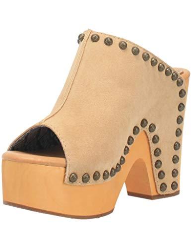 Dingo Fashion Shoes Womens Clog Open Toe Studded 9 M Natural DI153