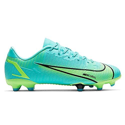 Nike JR Vapor 14 Academy FG/MG, Scarpe da Calcio, Dynamic Turquoise/Lime Glow, 35.5 EU