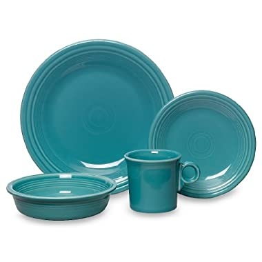 Fiesta 16-Piece, Service for 4 Dinnerware Set, Turquoise