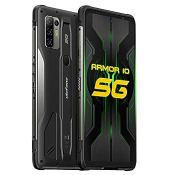 Ulefone Armor 10 5G Rugged Smartphones Unlocked 8GB 128GB Waterproof Phones 64MP AI Quad Camera Android 10 6.67 inch FHD NFC 5800mAh QI 15W Wireless Charging Fingerprint/Face ID Global Version