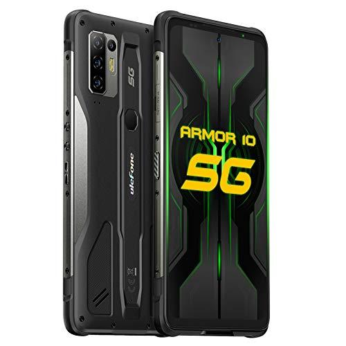 Ulefone Armor 10 5G Rugged Smartphones Unlocked, 8GB 128GB Waterproof Phones, 64MP AI Quad Camera, Android 10, 6.67 inch FHD, NFC, 5800mAh QI 15W Wireless Charging, Fingerprint/Face ID, Global Version