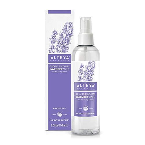Alteya Organic Eau de Lavande Vaporisateur 250ml - Certifiée 100% organique USDA Pure Bio Naturelle, Eau de fleurs distillée à la vapeur à partir de f