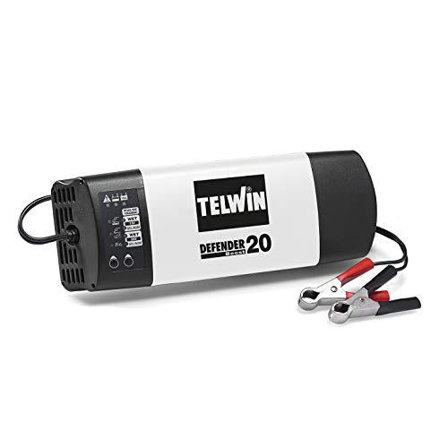 Telwin 807600 Caricabatterie e mantenitore, Defender 20 Boost, 8A