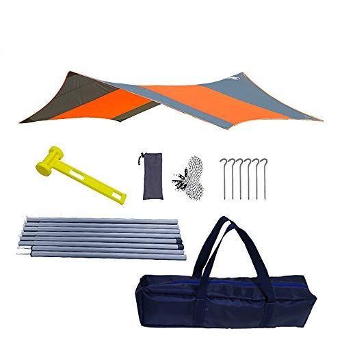 Yingm Camping Shelter Tarp Camping Persenning Strand Zelt Markise mit Persenning Polen 410x410cm Picknickmatte im Freien (Farbe : Hexagon orange, Size : 410x410cm)