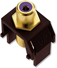 Legrand - On-Q WP3466BR Purple RCA to FConnector, Brown