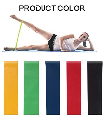 Bandas de resistencia para ejercicios– resistencia extra pesada | bandas de entrenamiento de 12 pulgadas | perfecto para gimnasio, fitness, yoga (1 juego)