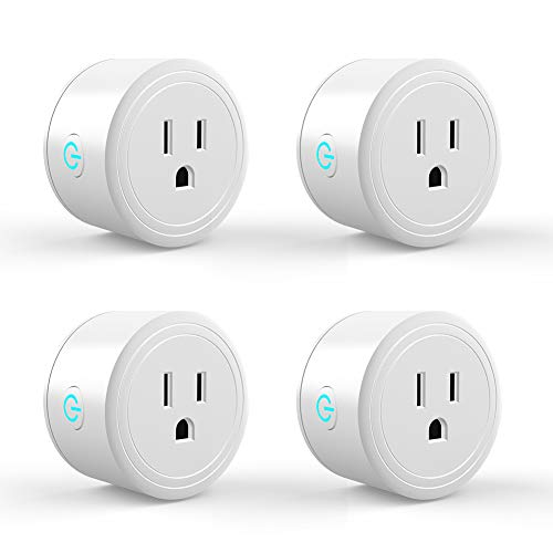 WOLF ARMOR Wi-Fi Smart Plug, Suitable for Amazon Alexa, Google Home, No Hub Required, Remote Control of Your Home Appliances, Schedule and Timer, ETL Certification(4 Pack)