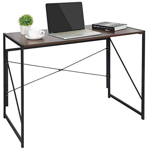 ZenStyle Writing Computer Desk Home Office PC Laptop Folding Tables Multipurpose Workstation with Solid Steel Frame/Waterproof Desktop