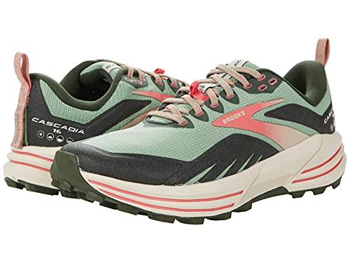 Brooks Cascadia 16, Zapatillas para Correr Mujer, Basil Duffel Bag Coral, 40 EU