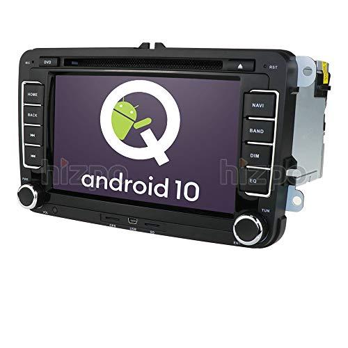 Android 10 OS 7 Pulgadas 2 DIN Radio de Coche 4G RAM 64G ROM Moniceiver DVD GPS Navegación Bluetooth para Volkswagen Golf Passat Skoda Seat Polo Amarok Jetta T5 Transporter